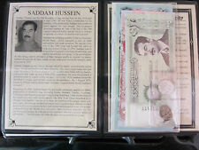 Saddam Hussein Dictator Of Iraq Set Of 2 Coins And 7 Banknotes From The Ruler