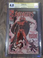 Marvel Avengers 57 CGC Signature Series 4.0 1st App Vision Signed By Roy Thomas