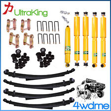 "Toyota Landcruiser FJ60 FJ62 HJ60 HJ61 F & R Shocks Leaf Springs 2"" HD Lift Kit"
