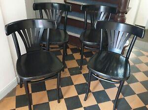 8 x vintage Kaffeehausstuhl Bistro Stuhl Schwarz Bugholz Thonet