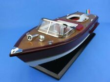 "Wooden Riva Aquarama Model Speed Boat 20"" - Fully Assembled Speedboat"