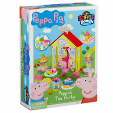 PEPPA PIG'S - PEPPA'S TEA PARTY SOFTEE DOUGH PLAYSET INC LOTS OF ACCESSORIES NEW