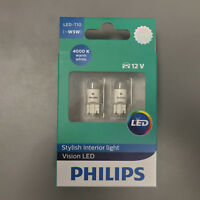 PHILIPS Genuine Warm White 4000K X-TREME VISION 360 LED T10 501 W5W CAR BULBS