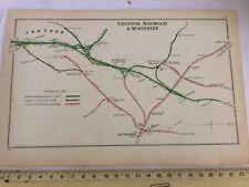 NORWOOD CRYSTAL PALACE WOODSIDE SYDENHAM BECKENHAM CROYDON RAILWAY MAP 1908 LBSC