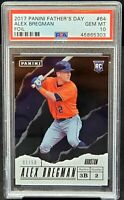 2017 Panini FOIL RC Astros ALEX BREGMAN Rookie Card /50 PSA 10 GEM MINT Low Pop1