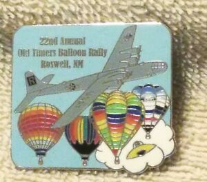 22ND ANNUAL OLD TIMERS BALLOON RALLY ROSWELL, NM USAF R BALLOON PIN