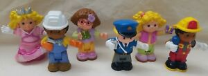 Lot of 6 Fisher Price Bendable Little People Figures