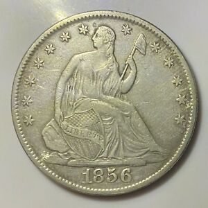 1856 O New Orleans Mint Silver Seated Half Dollar