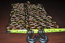 """BTC 5/16"""" - 25 Ft Alloy Steel Tow Chain with Clevis Grab Hooks   Made in USA"""