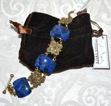 NWT $680 STEPHEN DWECK Granada Sodalite Blue Link Bracelet Lapis Bronze Engraved