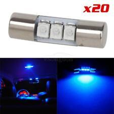 20pcs Blue LED Car Interior Lights for Sun Visor Vanity Mirror Lamps 3-LED 12V