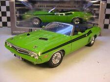 GREEN 1971 DODGE CHALLENGER CONVERTIBLE GREENLIGHT 1:18 SCALE DIECAST METAL CAR