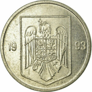 [#703723] Coin, Romania, 5 Lei, 1993, EF(40-45), Nickel plated steel, KM:114