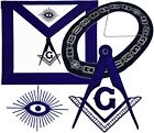 Blue Lodge Officer Collar Plus Master Mason Apron with Square Compass Package