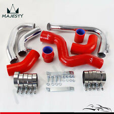RED Intercooler Piping PIPE Kit for 2002-2006 Audi A4 1.8T Turbo B6 Quattro