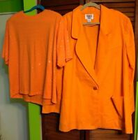 Blazer & Matching Top, Cervelle Brand, Color Orange, Pull-over Top  Size XL