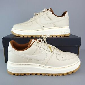 Nike Air Force 1 Luxe Men's Shoes DB4109-200 Pecan Pearl White Pale Ivory Sz 12