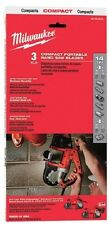 Milwaukee 48-39-0519, 35-3/8 in. 14 tpi. Compact Band Saw Blade 3 pk