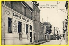 cpa 94 - VILLENEUVE St GEORGES Agence de la BANQUE POPULAIRE 13 Rue des ÉCOLES