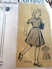 LOVELY VTG 1940s GIRLS DRESS FRENCH PATRON UNIVERSELS Sewing Pattern 8-10