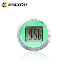 Green Waterproof Motorcycle Clocks Motorbike Mount Watch Moto Digital Clock