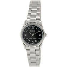 Casio Women's Analog Quartz Water Resistant Stainless Steel Watch LTPV001D-1B