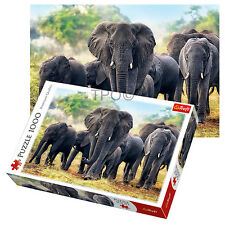 Trefl 1000 Piece Adult Large Forest African Elephants Safari Jigsaw Puzzle NEW