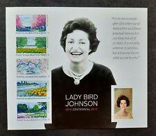 USA Lady Bird Johnson Centennial Forever Stamps Sheet of 6 Stamps Scott #4716