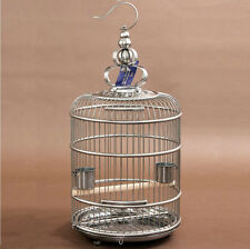 Large Stainless Steel 40 cm Round Bird Cage