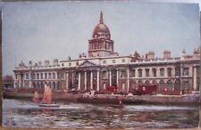 Irish Art Postcard CUSTOM HOUSE R Liffey Dublin Ireland Raphael Tuck Oilette