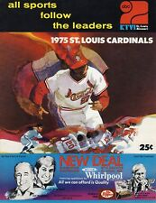 1975 Baseball program Cincinnati Reds @ St. Louis Cardinals, unscored ~ Gd