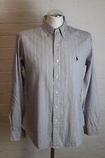 RALPH LAUREN Mens Blue Striped SHIRT - Size L - Large - Long Sleeve