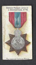 TADDY - BRITISH MEDALS & DECORATIONS (BLACK BACK) - #45 IMPERIAL SERVICE MEDAL