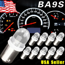 10X Xenon White BA9S LED Instrument Panel Light 1815 1895 1816 Dash Map Bulb 12V