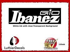 Ibanez Gio Guitar Headstock Decal Waterslide Inlay Logo 130wb