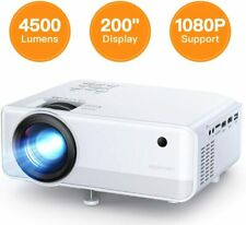 Full HD 1080P 4500 Lumens Portable Mini Home Theater Movie Video Projector HDMI