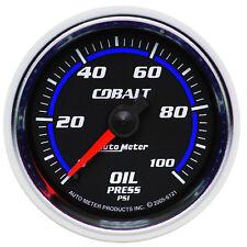 Autometer 6121 Cobalt Oil Pressure Gauge, 2-1/16 in., Mechanical