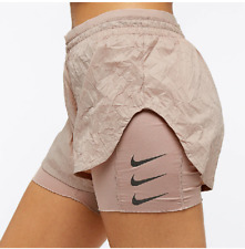 NIKE ELEVATE 2IN1 WOMEN RUNNING DIVISION SHORTS - TAUPE AJ4197-229 - XS S M L XL