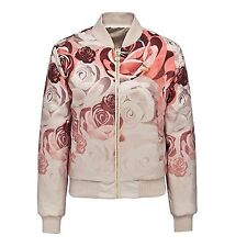 NWT Puma X Careaux Reversible Bomber Pink/Champagne Flowers  NEW Wom XS ANB