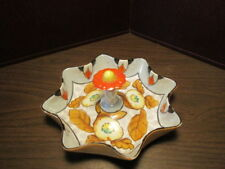 Vintage Luster Dish With Orange Flower Handle Lift & Design - Made in JAPAN