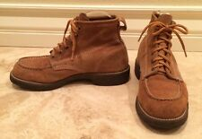 Vtg STALWARTS Leather Sport Hunting Birding Work Boots Safety Toe Men's 7 E USA