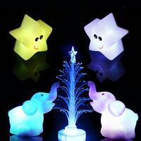 NEU Baum  Stern  Elefant Form Farbwechsel LED Lampe  Nacht licht Dekorati B4W0