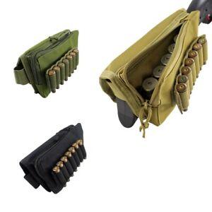 Tactical Portable Buttstock Cheek Rest Ammo Pouch Shotgun Rifle Stock Holder US