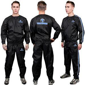 FS Heavy Duty Sweat Sauna Suit for Men and Women Track Suit Unisex Slimming Blue