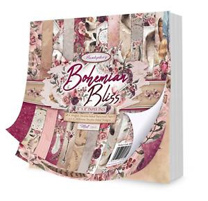 Bohemian Bliss - 8x8 Paper Pad - 48 Sheets - Hunkydory Crafts