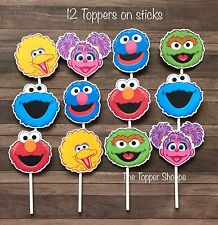 12- SESAME STREET Cupcake Toppers / Cake Toppers / Birthday Party Decorations