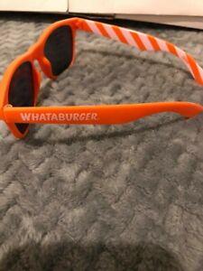 WHATABURGER COLLECTIBLE SUNGLASSES Orange with White Stripes NEW