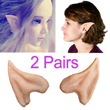 Halloween Party Latex Costume Ears Tips Elf Fairy Hobbit Vulcan Spock Cosplay
