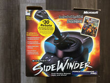 MICROSOFT Force Feedback Pro Joystick Sidewinder In Original Box
