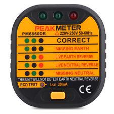 PEAKMETER PM6860DR Automatic Electric 220V - 250V EU Plug Socket Tester